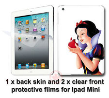 Snow White & Apple SKIN STICKER DECAL COVER and 2 protected films for iPad Mini