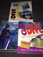 3 SCUBA DIVING MANUALS AND TRAINING BOOKS
