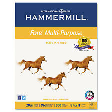 Hammermill Fore MP Multipurpose Paper 96 Brightness 20lb 8-1/2x11 White 5000