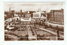 St John's Gardens & Mersey Tunnel Entrance Liverpool 1935 Real Photograph