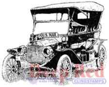 Deep Red Cling Rubber Stamp Rubber Stamp Old Vintage Mail Truck