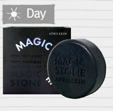 April Skin Magic Stone Face Whitening 100%Cleansing Soap 100g- Charcoal Black