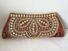 New Beaded Bag Handbag  Evening Party Bag Small Beads Sequins Clutch