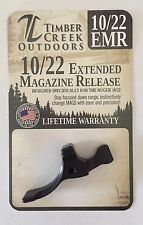 NEW! RUGER 10/22 EXTENDED MAGAZINE RELEASE LEVER ANODIZED BLACK - 10/22 EMR