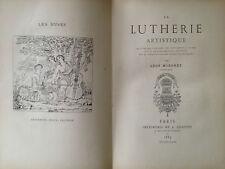 Mordret 1885 La Lutherie musique instruments à archets Weckerlin Laurent violon
