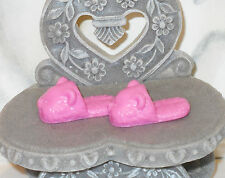 SHOES Barbie Daybed Pink Teddy Bear Slippers Christmas Winter Nose Ears Cheeks!