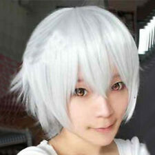 Fashion Men Anime Short Wig Cosplay Party Straight Hair Cosplay Full Wigs+Cap