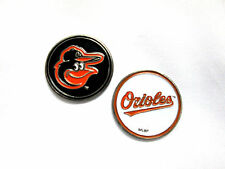 MLB Baltimore Orioles Golf Ball Marker Enamel Metal Team Logo 2 Sided Hat