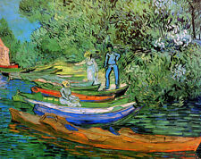 Bank of the Oise at Auvers  by Vincent van Gogh  Giclee Canvas Print Repro