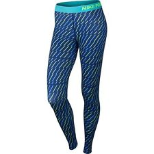 NWT $55 Women's Nike Pro Core Bolt Print Compression Tights  684665-455 Size XL