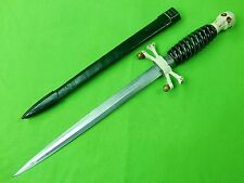 German Germany Solingen PIC Skull & Crossed Bones Handle Dagger Knife Sword