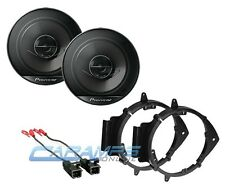 "PIONEER 6.5"" 2 WAY CAR STEREO SPEAKERS W/ DOOR MOUNTING BRACKETS & WIRE HARNESS"