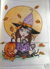 Fantasy Witches Halloween Adult Colouring Book Creative Art Therapy Relax Molly