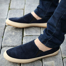 New Summer Men's Canvas Breathable Slip On Sneakers Loafers Casual Lazy Shoes