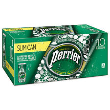 Perrier Sparkling Natural Mineral Water 8 oz Can 10/Pack 3 Pack/Carton 12188938