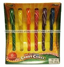 CRAYOLA^* 6pc Candy Canes COLOR YOUR MOUTH 3 oz Box HOLIDAY/CHRISTMAS Exp. 5/18