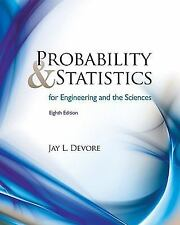NEW Probability and Statistics Engineering the Sciences by Devore 8TH INTl Ed