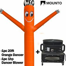 MOUNTO  20ft Orange Wind Fly Dancer Dancing Sky Air Puppet with Blower