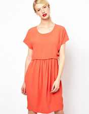 See by Chloe Cap Sleeve Dress in Coral - UK 18 rrp £270