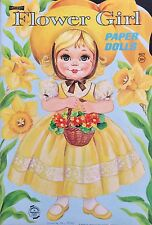 Flower Girl Paper Doll Book, Uncut 1969, Vintage, 6 Pages of Clothes