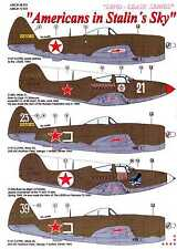 AML Models Decals 1/72 AMERICANS IN STALIN'S SKY Lend Lease Aircraft w/PE Set