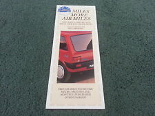 1989 Austin Rover METRO MAESTRO MONTEGO FREE AIR MILES OFFER SMALL UK BROCHURE