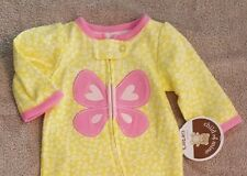 NEW!! CARTER'S 0-3 MONTH YELLOW BUTTERFLY FOOTED SLEEP N PLAY ADORABLE!