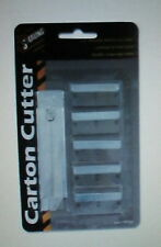 CARTON CUTTER WITH RETRACTABLE BLADE (5 EXTRA BLADES INCLUDED) NIB