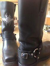 NO RESERVE Mens Custom Harley Davidson leather Biker Boots size 10