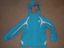 Girls XS X-Small 6 The North Face Hyvent Aqua Blue Hooded Waterproof Coat Jacket