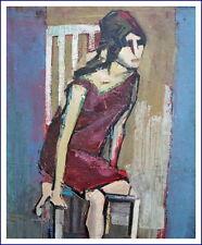 Abstrakte Darstellung - Frau auf Stuhl ~ 1940/1950