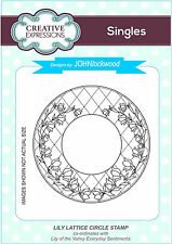 Creative Expressions LILY LATTICE CIRCLE  PRE CUT RUBBER STAMP  UMS701 *