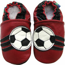 carozoo soccer dark red 18-24m C2 soft sole leather baby shoes