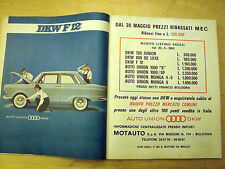 PUBBLICITA' ADVERTISING 1963 AUTO UNION DKW F 12 (Q90)