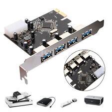 Tarjeta Adaptador Controlador PCI-e PCI Express A 4puertos USB 3.0 Hub PR Win7/8