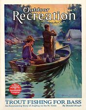 Muskie Fishing Vintage Magazine Poster Art  Musky Lures MAG08