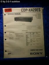 Sony Service Manual CDP XA20ES CD Player (#4199)