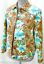 Laura Ashley jungle animal tropical floral lined JACKET beaded light coat P8 NEW