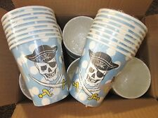 24x packs of 8 = 192 Childrens Pirate Party Paper Cups, 250mls,  BNIW