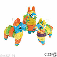 3 pc Set FIESTA Cinco De Mayo Party Table Decoration Donkey Faux MINI Pinata