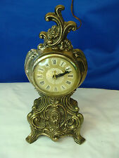 Vintage United Metal Works Model No 82 Ornate Electric Mantel Clock