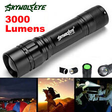 3000 Lumens 3 Modes Zoom Focus CREE XML T6 LED 18650 Flashlight MINI Torch Lamp