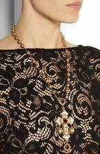 $1475 DOLCE & GABBANA  Net a Porter CROSS BYZANTINE CROCE PIENA Necklace BNWT
