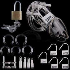 Clear Plastic Male Chastity Device / Belt Cage Gimp Sissy Keuschheitsgürtel