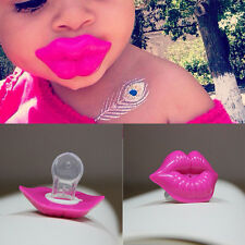 Lip Pacifier Dummy Baby Soother Joke Prank Toddler Orthodontic Funny Nipples
