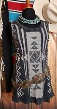VOCAL Cowgirl Southwestern Waffle knit Fitted TRIBAL Tank Top Shirt Western 1XL