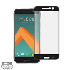 BLACK Full Cover Tempered Glass Screen Protector Guard for HTC 10/Lifestyle