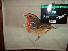 TESCO LARGE ROBIN JUTE SHOPPING BAG (LIMITED EDITION)(NATURAL HISTORY MUSEUM)