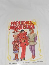 COLLECTIBLE VINTAGE BOOK PAPER DOLLS 1987 PEGGY JO ROSAMOND PAPERDOLL MASQUERADE