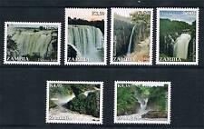 Zambia 2014 Waterfalls 6v MNH